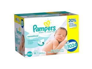 Pampers Sensitive Wipes - 1024 Count