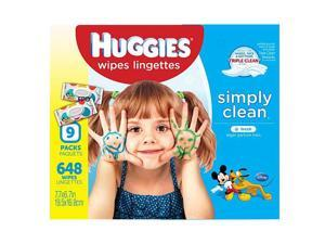 Huggies Simply Clean Baby Wipes, Unscented, Soft Pack, 648ct
