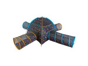 Pacific Play Tents Galaxy Combo Junction with Glow in the Dark Stars