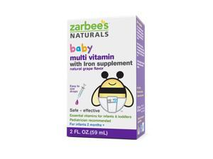 Zarbee's Baby Multivitamin with Iron Supplement - 2 Fluid Ounce