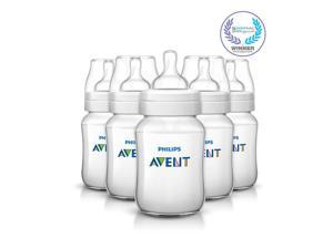 Philips Avent BPA Free Classic 9 Ounce Polypropylene Bottles - 5 Pack
