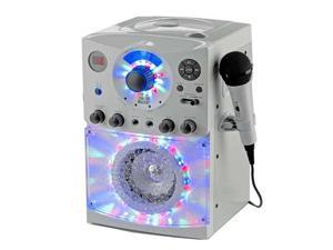 Singing Machine Karaoke System with LED Disco Lights & Two Wired Microphones