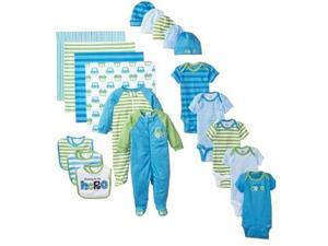 Gerber Boys 19 Piece Blue/Green Newborn Essentials Set - 0-6Months