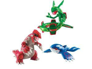 "Pokemon&#59; Trainers Choice 3 Pack Legendary 4""Figures- Groudon, Kyogre &"