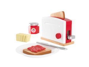 KidKraft Red & White Toaster Set