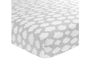 Carter's Sateen Grey Cloud Crib Sheet