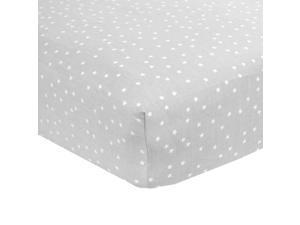 Carter's Sateen Grey Star Crib Sheet