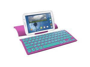 ZAGG ZAGGkeys Universal Wireless Keyboard - Purple with Mint Keys
