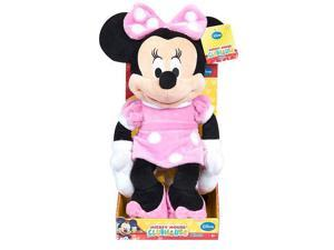 Disney Classic Medium Minnie Mouse Plush - Light Pink and Polka Dots