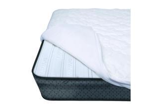 iComfort Premium Crib Mattress Pad White - 300 Thread Count 100% Cotton