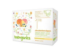 Babyganics Value Box of Diapers Size 1 - 116 Count