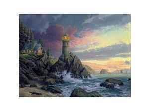 1000 Piece Thomas Kinkade Jigsaw Puzzle - Rock of Salvation
