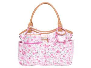 Laura Ashley 6 Piece Tote Diaper Bag - Pink Floral