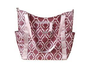 JJ Cole Bucket Tote Diaper Bag - Red Trellis