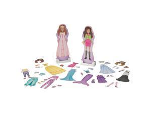 KidKraft Magnetic Dress Up Dolls - Trends and Fairytale