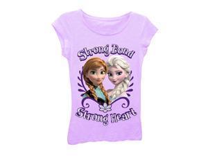 Disney Frozen Strong Bond Lilac Tee Shirt - Large