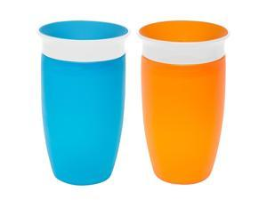 Munchkin BPA Free 2 Pack 10 Ounce Miracle 360 Degree Sippy Cup - Orange/Blue