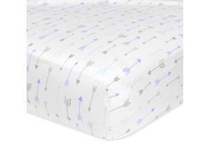 Carter's Arrow Print Crib Sheet - Blue