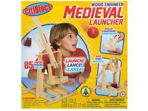 Citiblocs Wood Engineer Medieval Launcher Building Blocks 66 Pieces