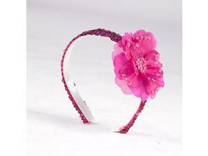 A Wish Come True Sequin Flower Headband - Fuchsia