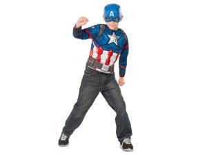 Marvel Civil War Captain America Chest Shirt - Child Size 4-6