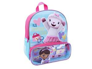 "Disney's Doc McStuffins Doc 12""Backpack with VELCRO brand clos - Pink & Blue"