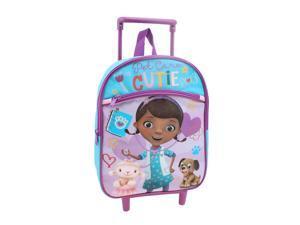 "Disney Junior Doc McStuffin ""Pet Care Cutie"" 12 inch Rolling Backpack"