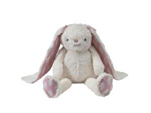 Lambs & Ivy 16.5 inch Happi Bunny Charlotte Plush - Pink/White