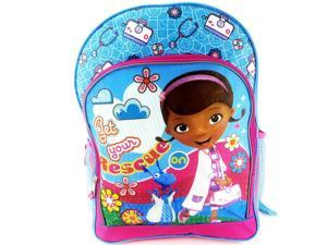 """Doc McStuffins Dottie & Stuffy """"Get Your Rescue On"""" Backpack with Two Side Mes"""