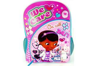 "Doc McStuffins Dottie & Lambie ""We Care On Call 24/7"" Backpack with Two Side M"