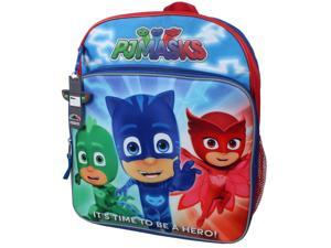 "PJ Masks Owlette, Gekko & Catboy ""It's Time To Be A Hero!"" 14""Backpack with"