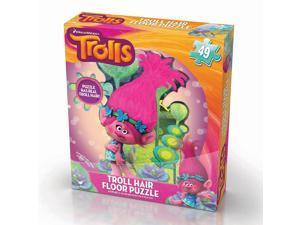 DreamWorks Trolls with Hair Floor Jigsaw Puzzle - 46-Piece