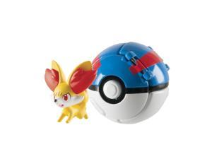 "Tomy Pokemon Throw N Pop Poke Ball 2""Action Figure with Poke Ball - Fennekin"