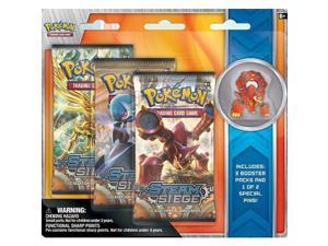 Pokemon XY11 Steam Siege 3 Booster Pack and Collector's Pin