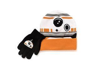 Star Wars Knit Cuff Beanie Hat and Glove Set - BB8