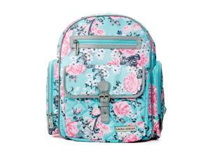 Laura Ashley 4-in-1 Rose Floral Dome Backpack Diaper Bag - Blue