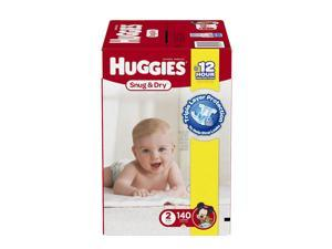 Huggies Snug and Dry Size 2 Baby Diapers - 140 Count