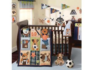 Lambs & Ivy Bow Wow 9 Piece Bedding Set