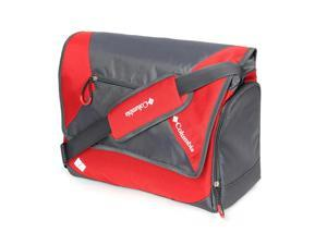 Columbia East Ridge&#59; Messenger Diaper Bag - Red with Gravel