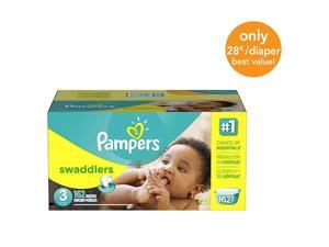 Pampers Swaddlers Size 3 Diapers Economy Plus Pack- 162 Count - $0.28/Ea.