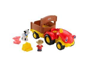 Fisher-Price Little People Lil' Movers Tow 'n Pull Tractor with Farmer Eddie