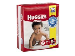 Huggies Snug and Dry Size 3 Baby Diapers- 34 Count