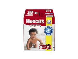 Huggies Snug and Dry Size 3 Baby Disposable Diapers - 132 Count