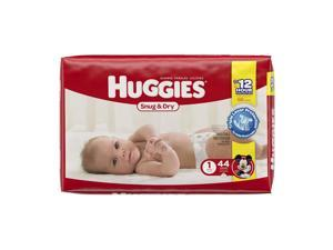 Huggies Snug and Dry Size 1 Baby Diapers - 44 Count
