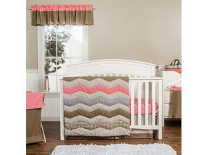 Trend Lab Cocoa Coral 3-Piece Crib Bedding Set