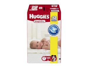 Huggies Snug and Dry Size 1 Baby Diapers - 148 Count
