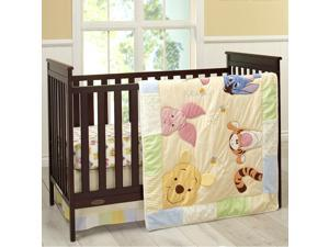 Disney Baby Peeking Pooh 7 Piece Crib Bedding Set