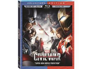Marvel's Captain America: Civil War Collector's Edition 2 Disc 3D Blu-Ray