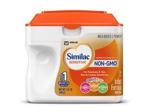 Similac Sensitive NON-GMO Infant Powder Formula with Iron - 1.41 LB