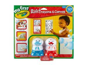 Crayola My First Washable Bath Crayons and Canvas Set
